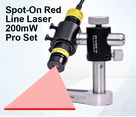 Spot-On Red Line Laser 200mW Pro Set : Alignment Lasers