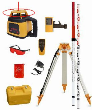 Spot-On Rotary Laser Level 300 Site Levelling Set - Promotion Rotary Lasers